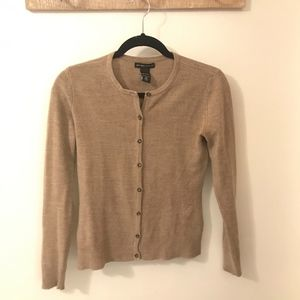 New York & Company Sweaters - New York & Company Beige Button Up Sweater
